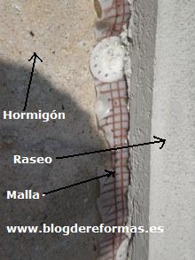 Pared de hormigón.